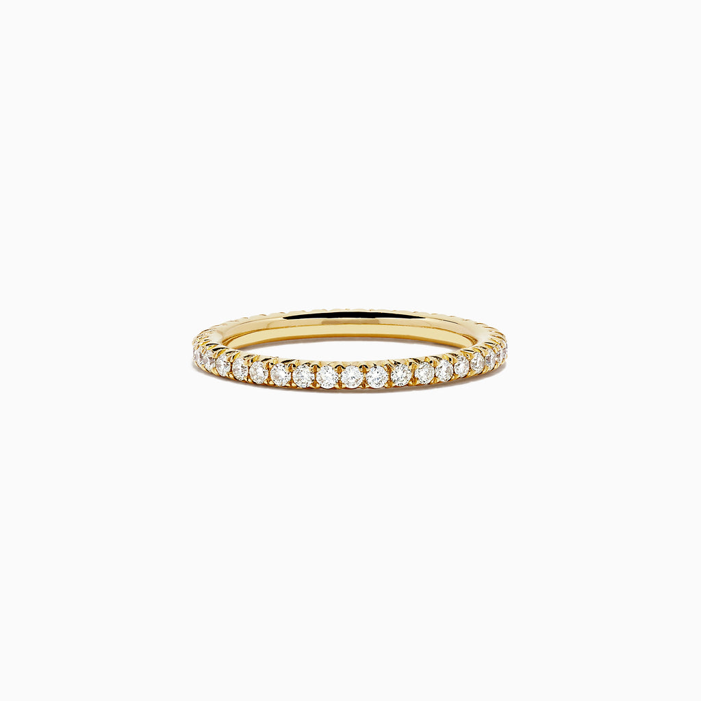 18K Yellow Gold Yellow Diamond Eternity Band, 0.54 TCW