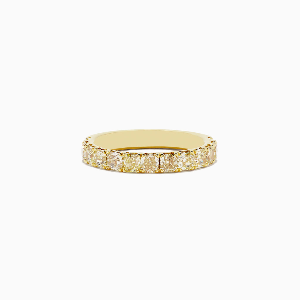 18K Yellow Gold Yellow Diamond Band, 1.83 TCW