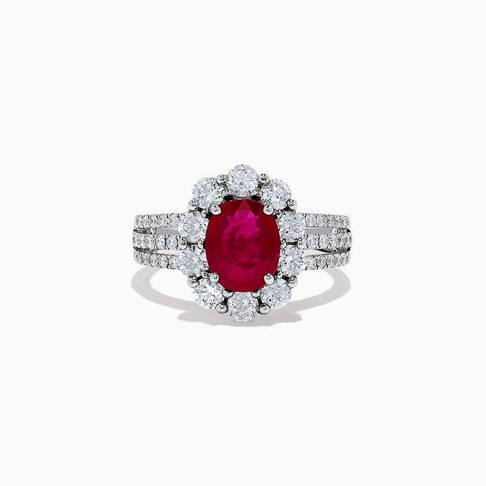 Effy Hematian 18K White Gold Ruby and Diamond Ring, 3.35 TCW