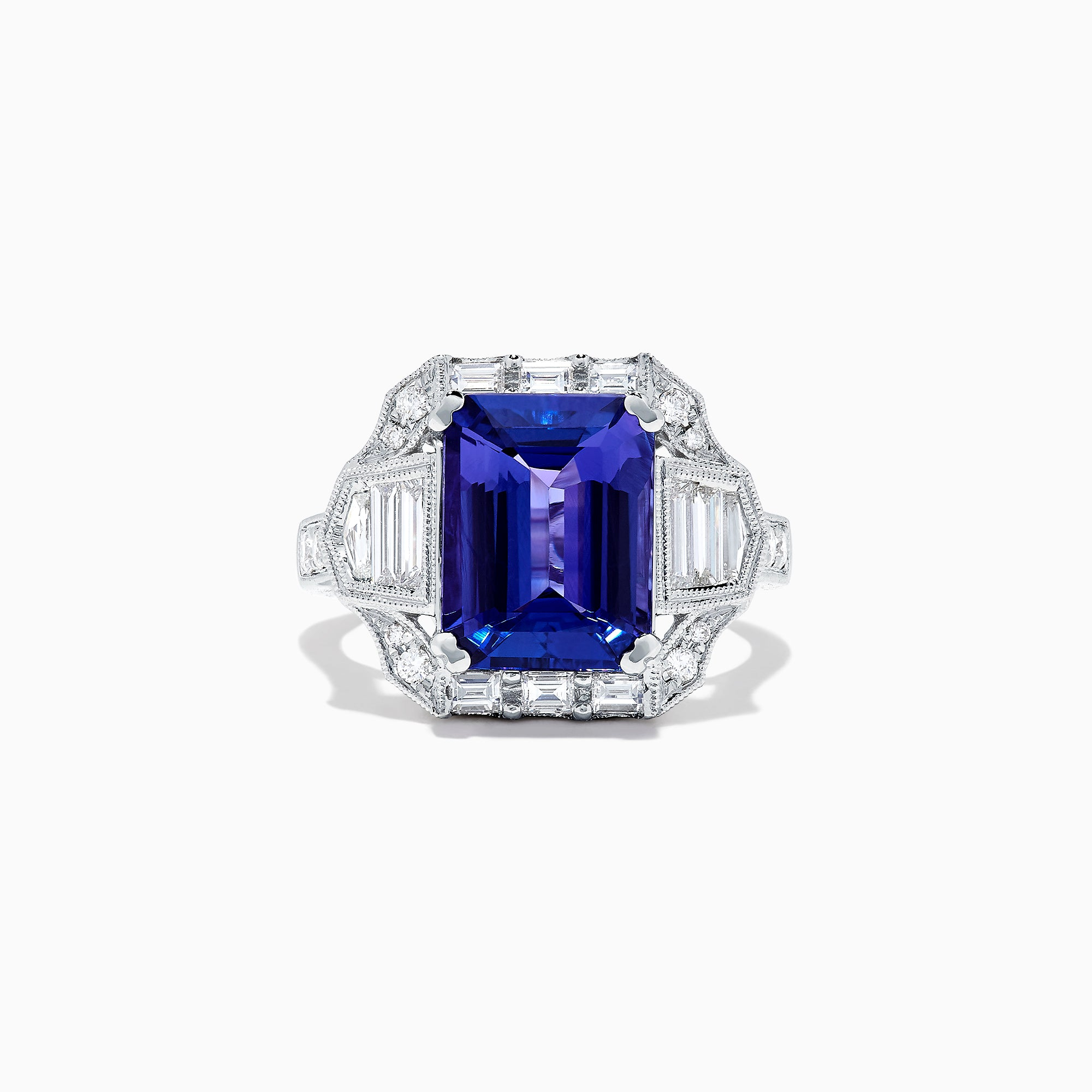 Effy Tanzanite Royale 18K White Gold Tanzanite and Diamond Ring, 7.27 TCW