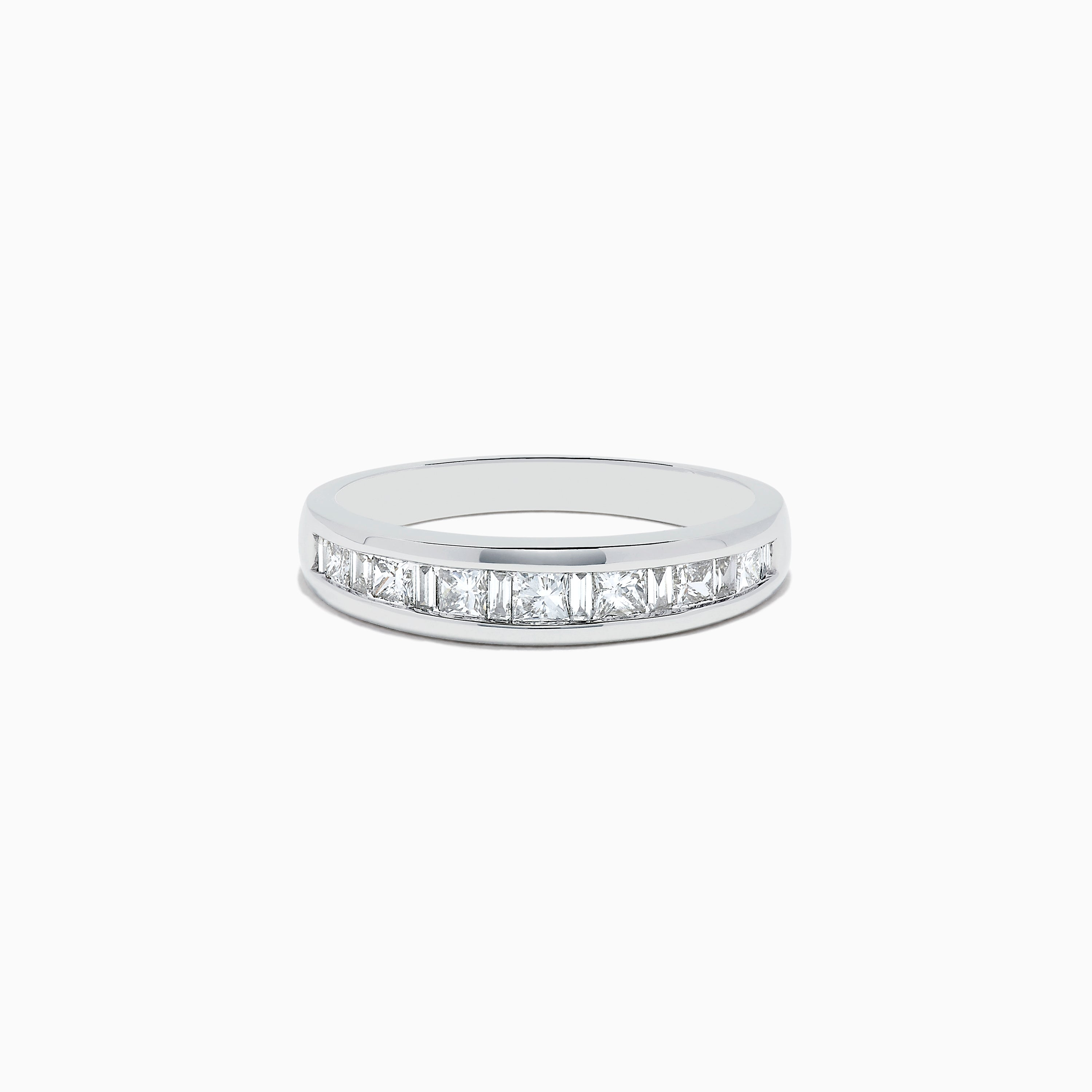 14K White Gold Channel Set Diamond Band, 0.50 TCW