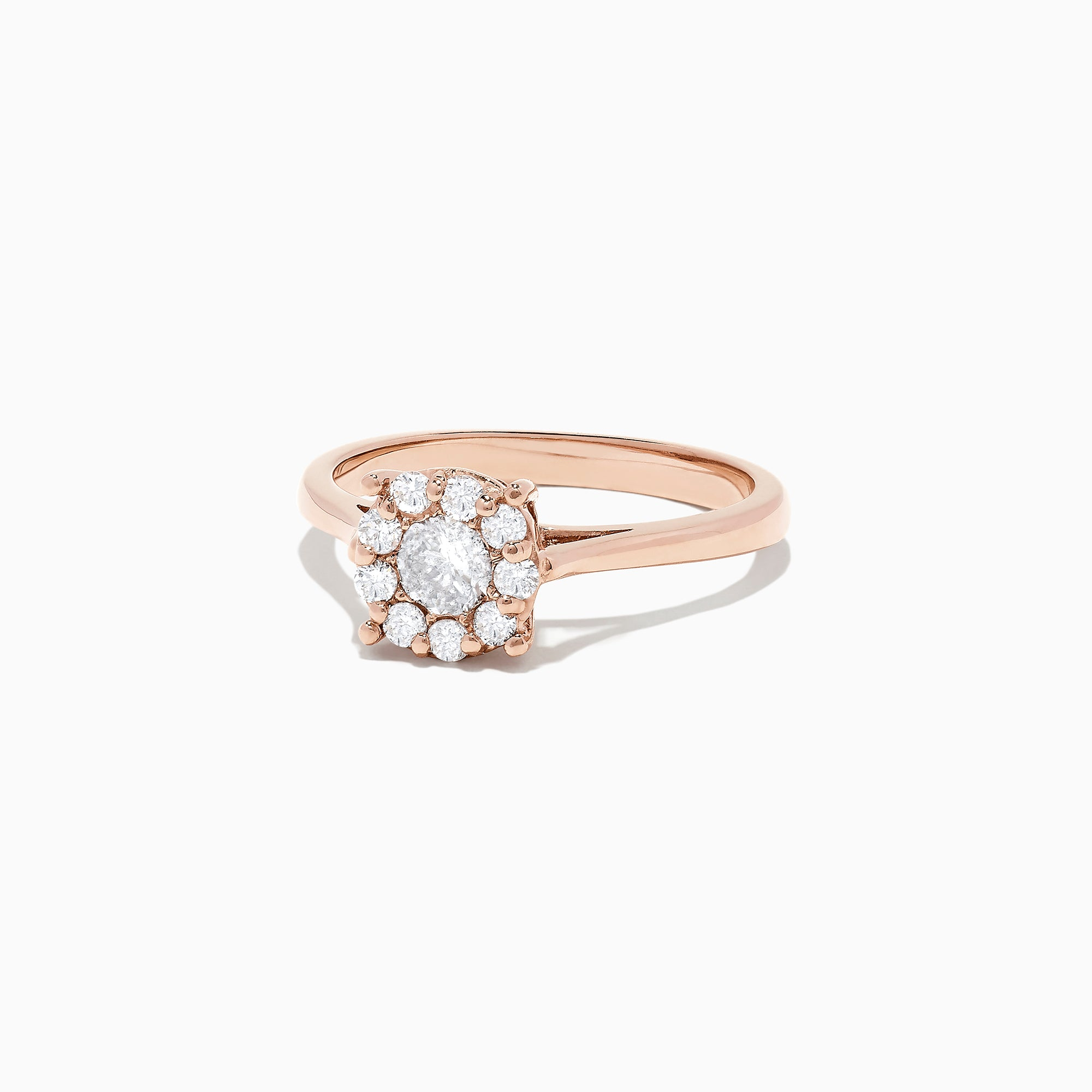Effy Bouquet 14K Rose Gold Diamond Cluster Ring, 0.51 TCW