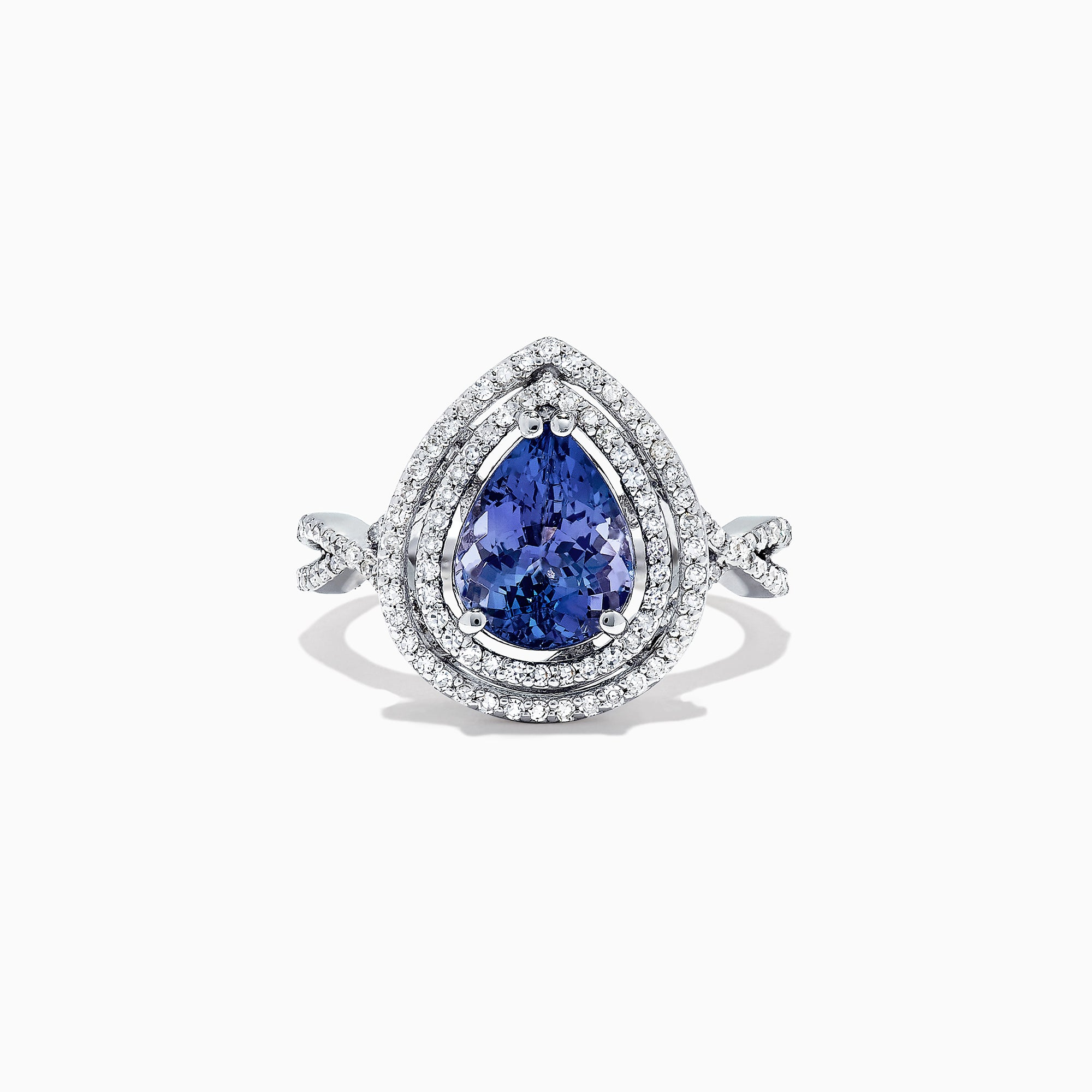 Effy Tanzanite Royale 14K White Gold Tanzanite and Diamond Ring, 2.56 TCW
