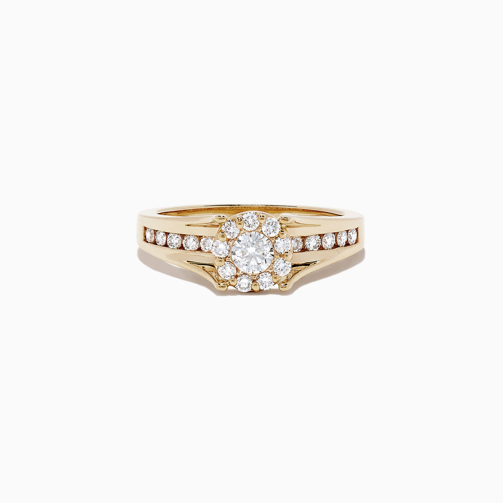 Effy Bouquet 14K Yellow Gold Diamond Cluster Ring, 0.68 TCW