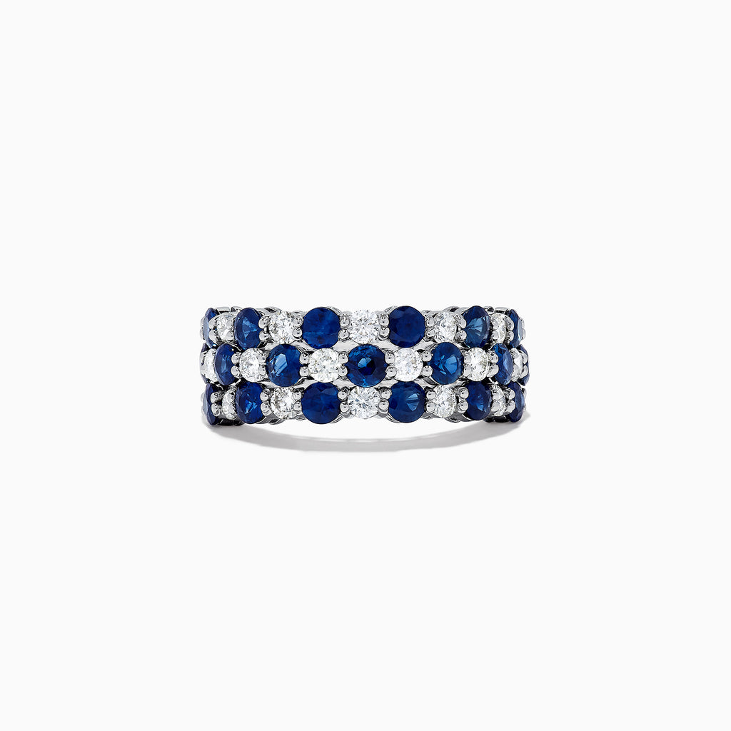 Effy Royale Bleu 14K White Gold Sapphire and Diamond Ring, 1.44 TCW