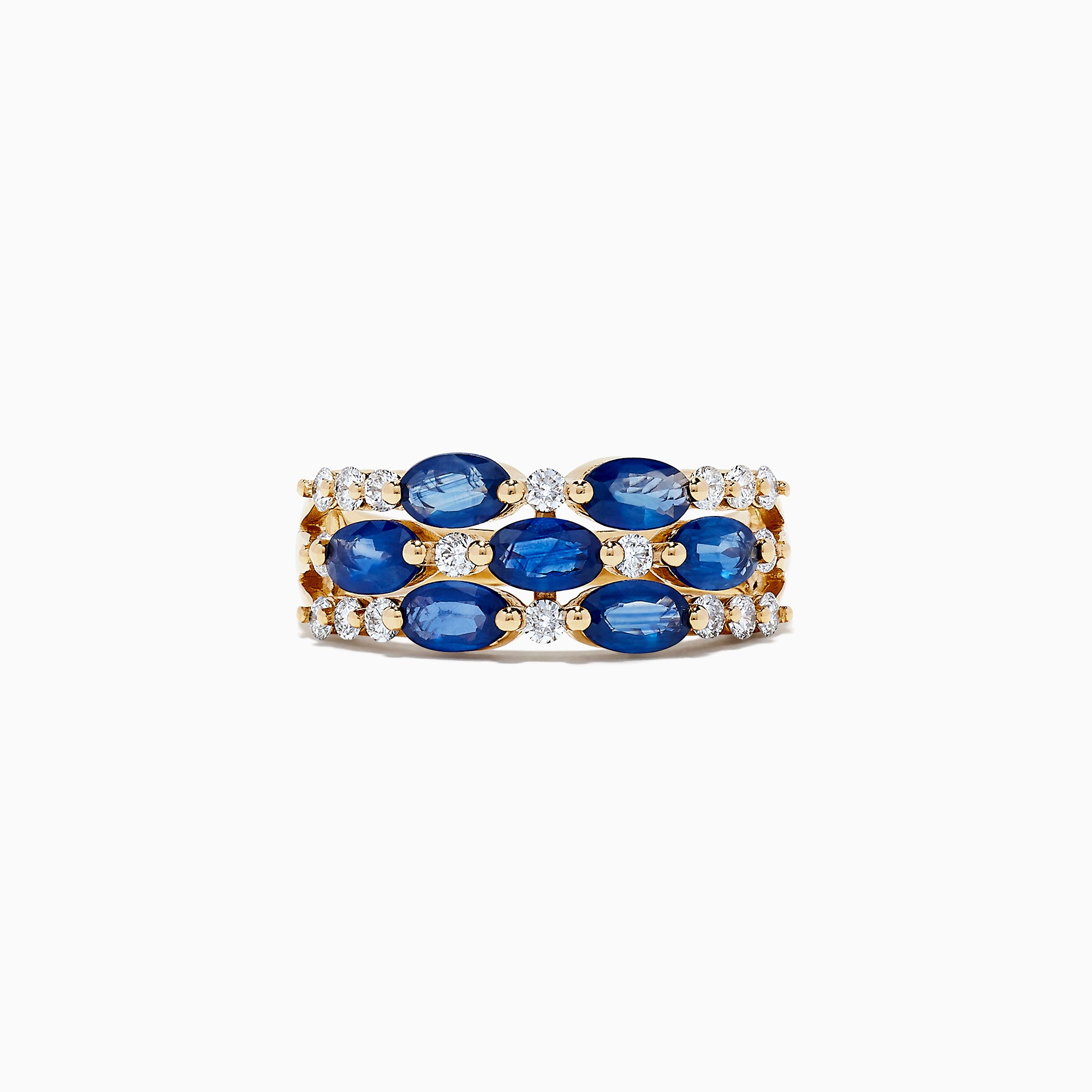 Effy Royale Bleu 14K Yellow Gold Sapphire and Diamond Ring, 2.63 TCW