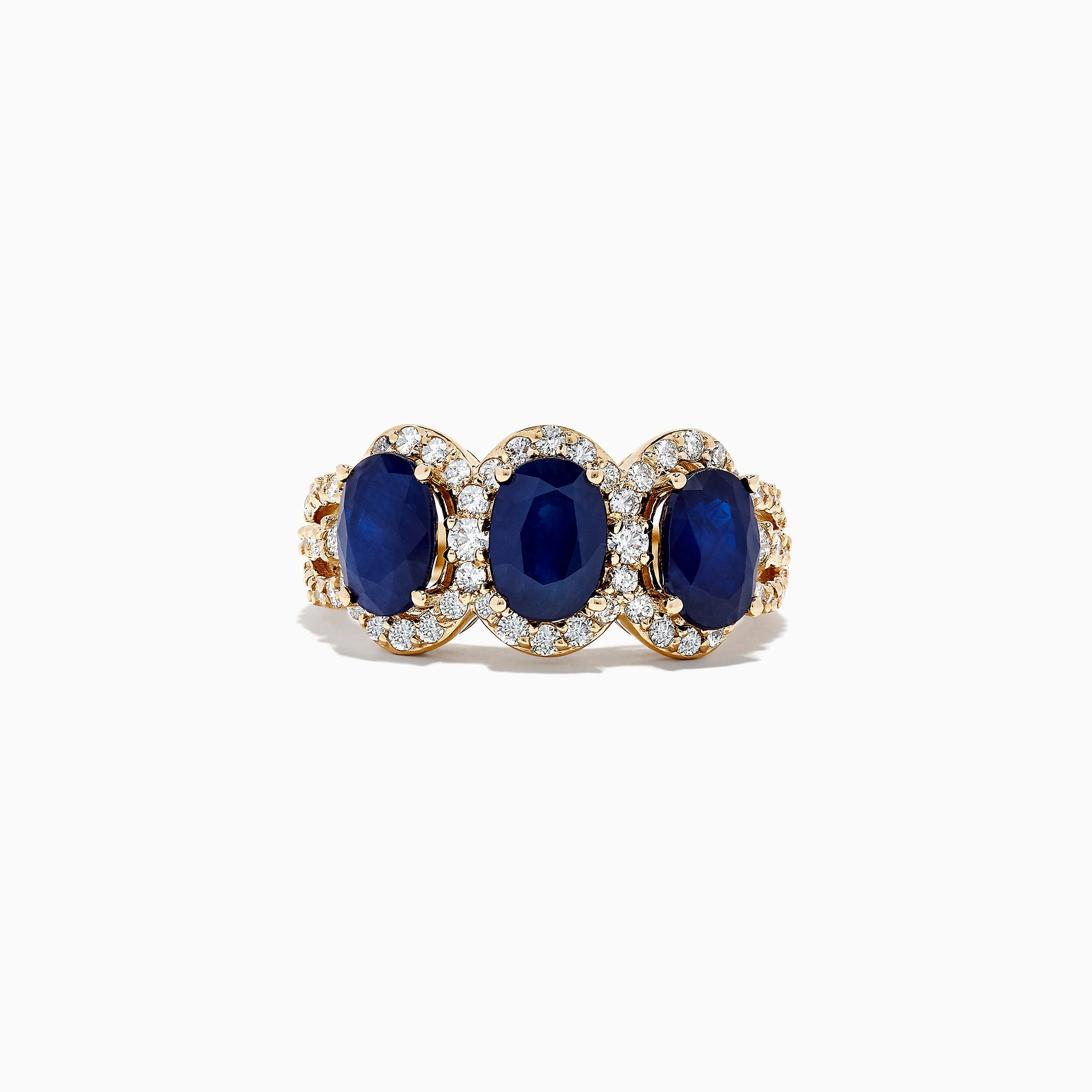 Effy Royale Bleu 14K Yellow Gold Sapphire and Diamond Ring, 3.07 TCW