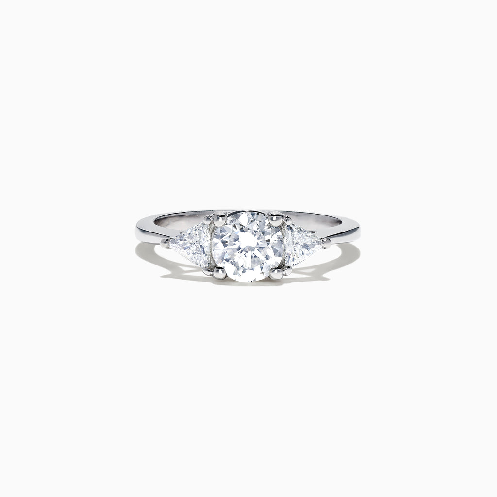 Effy Bridal 14K White Gold 3 Stone Diamond Ring, 1.25 TCW