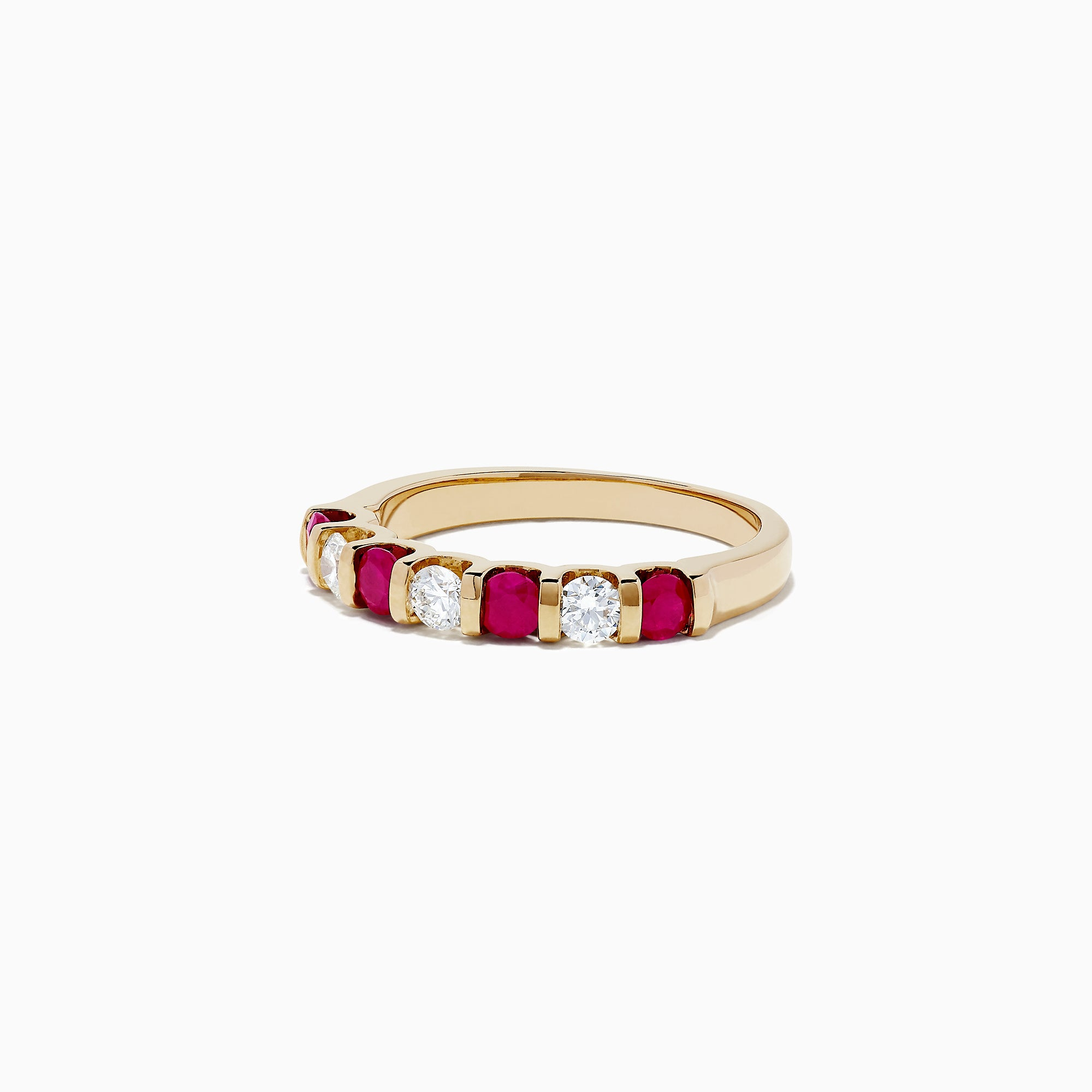 Effy Ruby Royale 14K Yellow Gold Ruby and Diamond Ring, 0.82 TCW