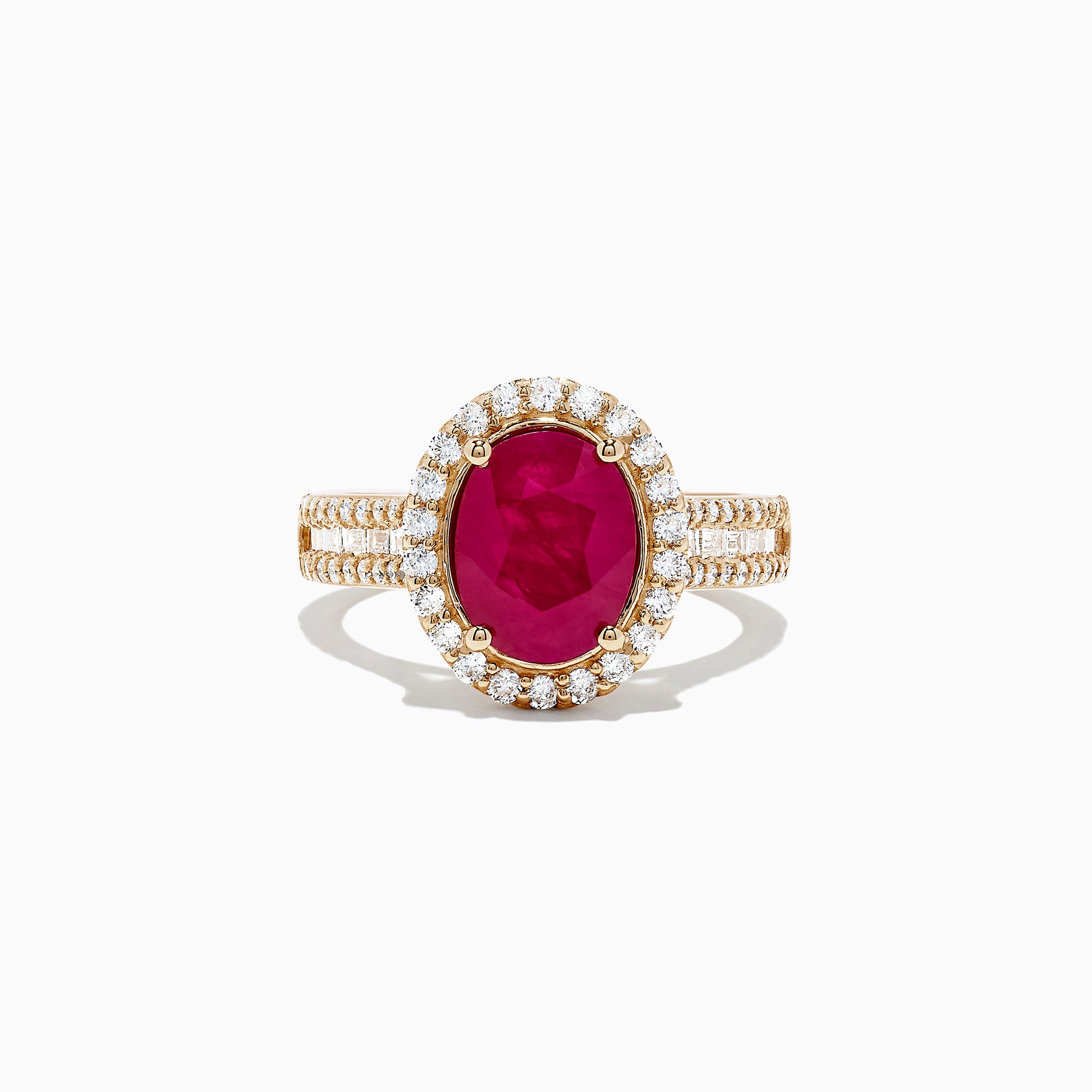 Effy Ruby Royale 14K Rose Gold Ruby and Diamond Ring, 3.49 TCW