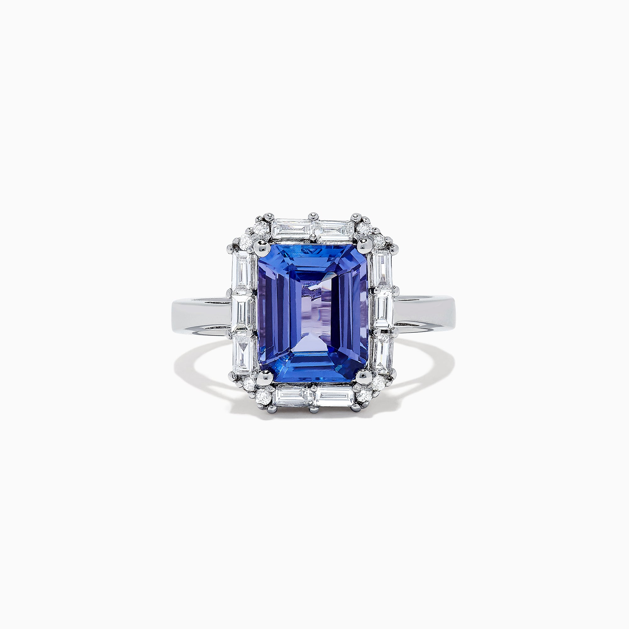 Effy Tanzanite Royale 14K White Gold Tanzanite and Diamond Ring, 5.03 TCW