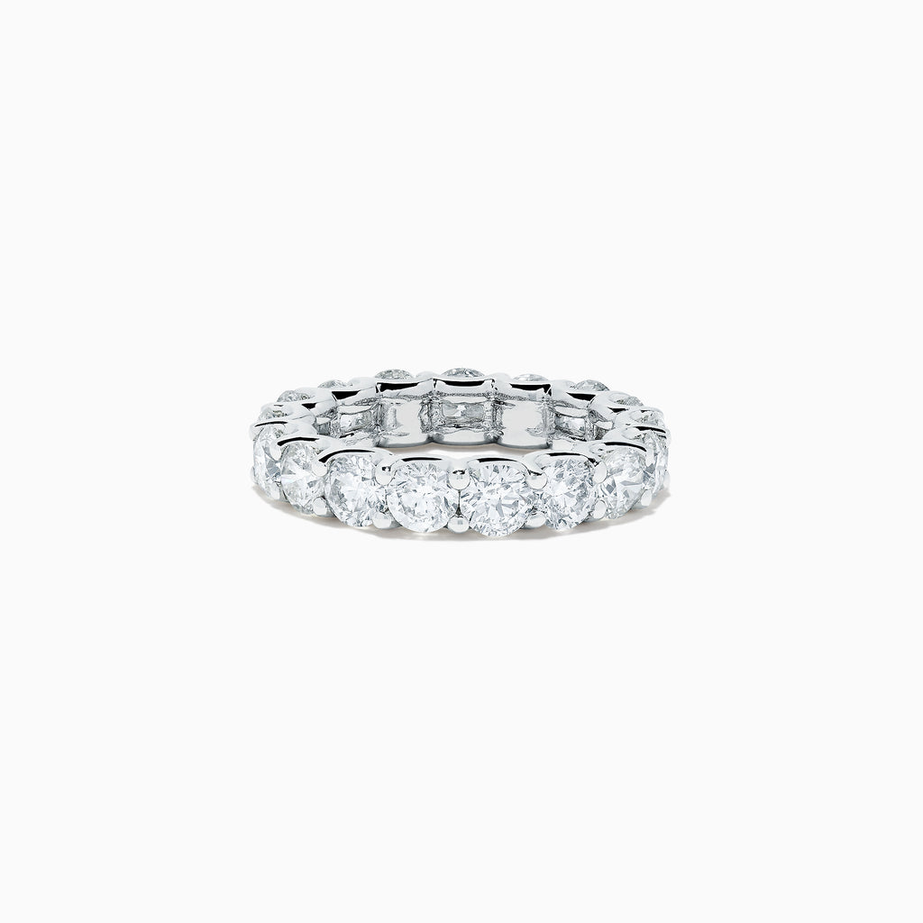 Effy 14K White Gold Diamond Eternity Band Ring, 5.00 TCW