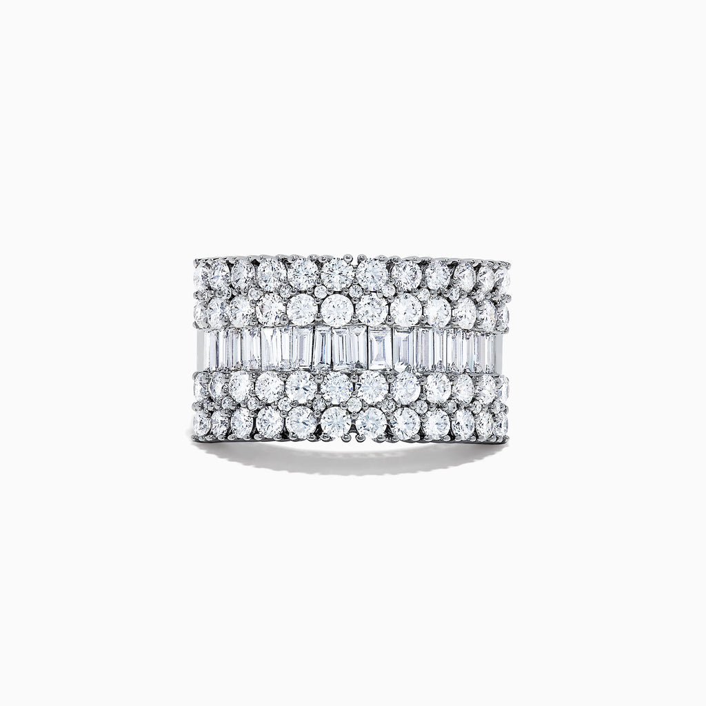 Effy Classique 14K White Gold Diamond Wide Band Ring, 2.47 TCW
