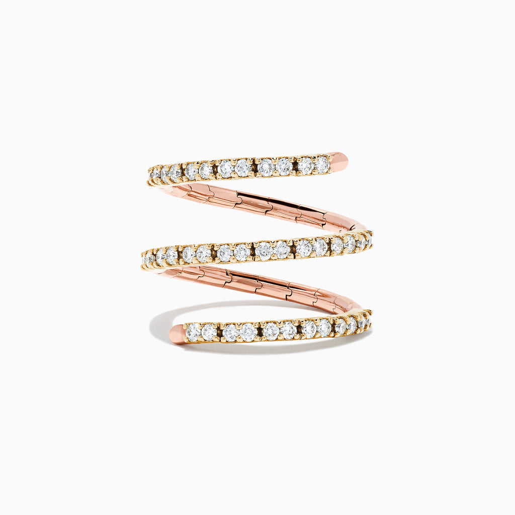 Effy Duo 14K Two-Tone Gold Diamond Wrap Ring, 0.78 TCW