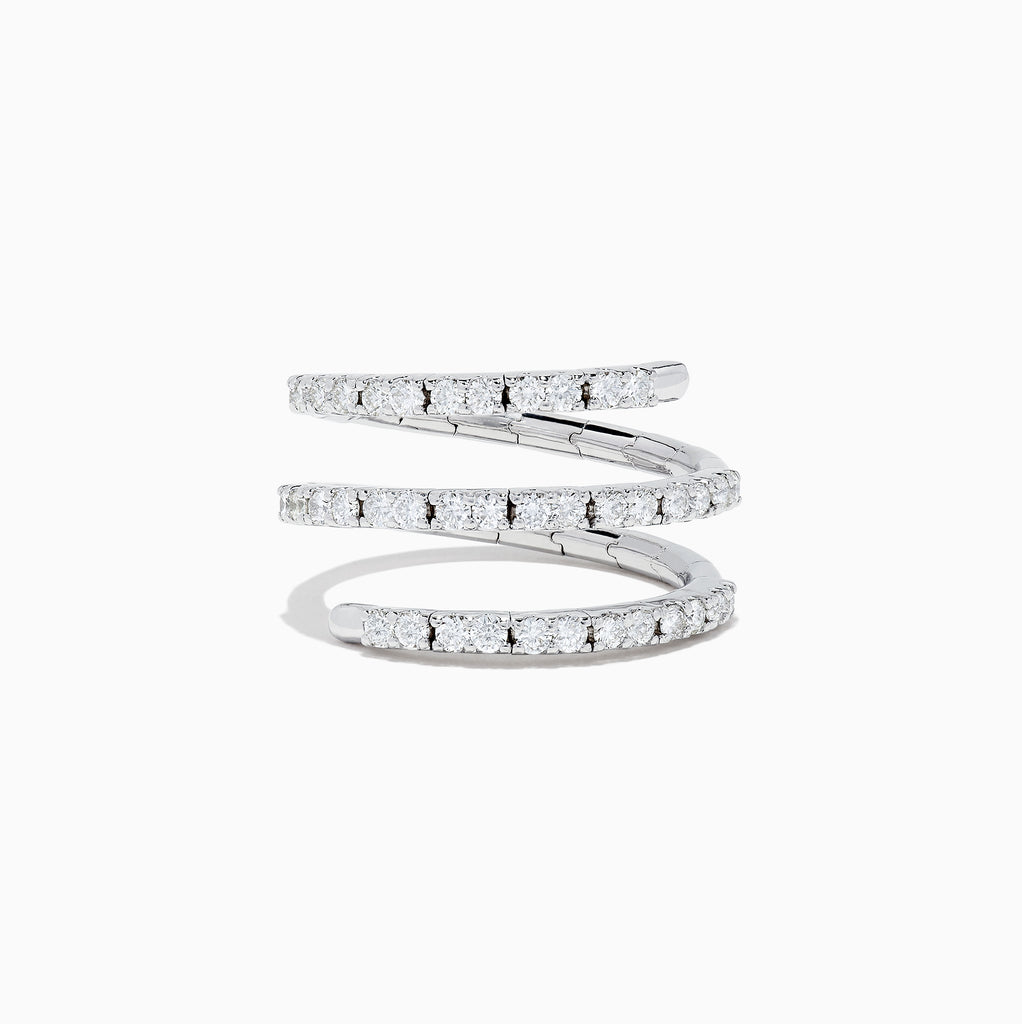 Effy Pave Classica 14K White Gold Diamond Wrap Ring, 0.78 TCW