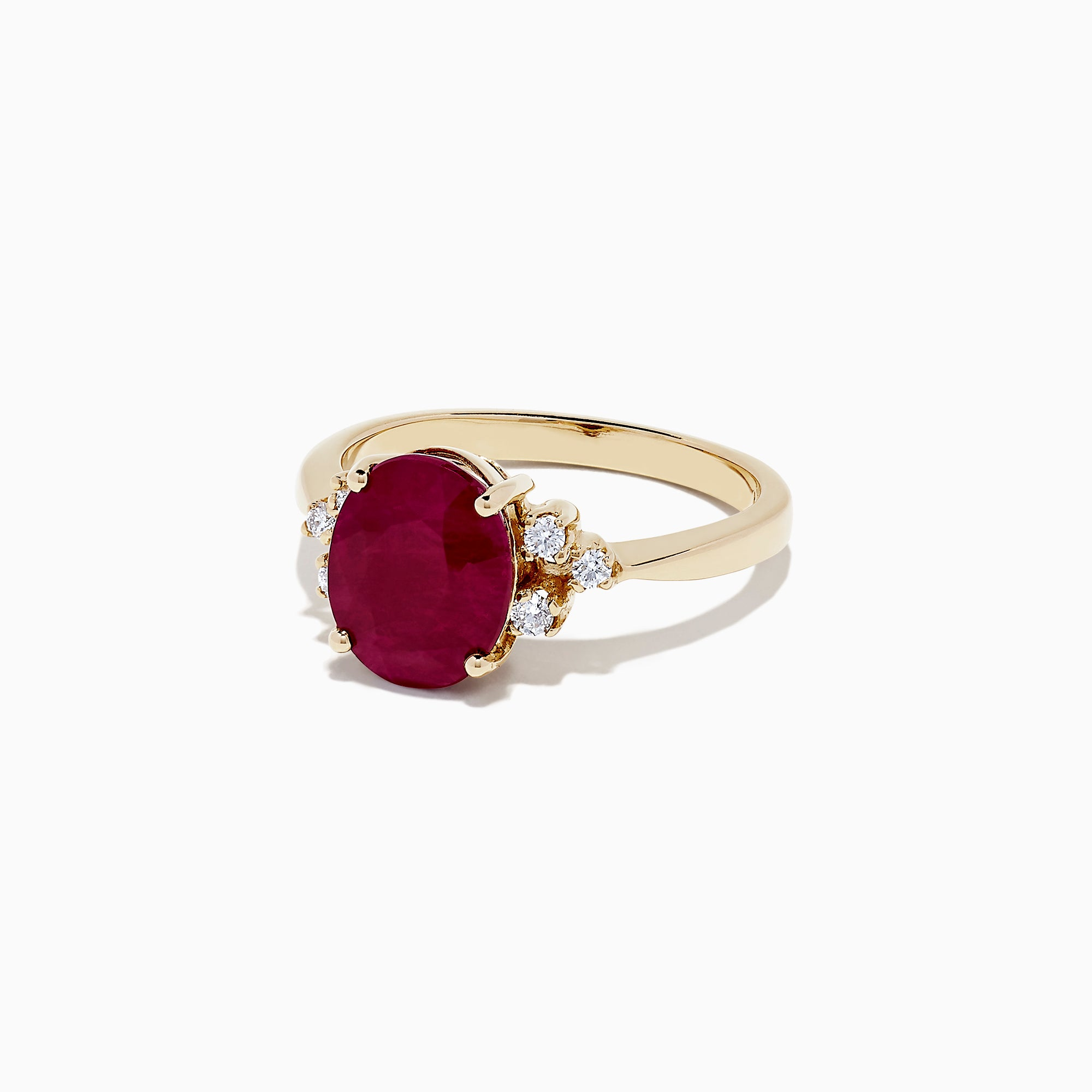 Effy Ruby Royale 14K Yellow Gold Ruby and Diamond Ring, 3.67 TCW