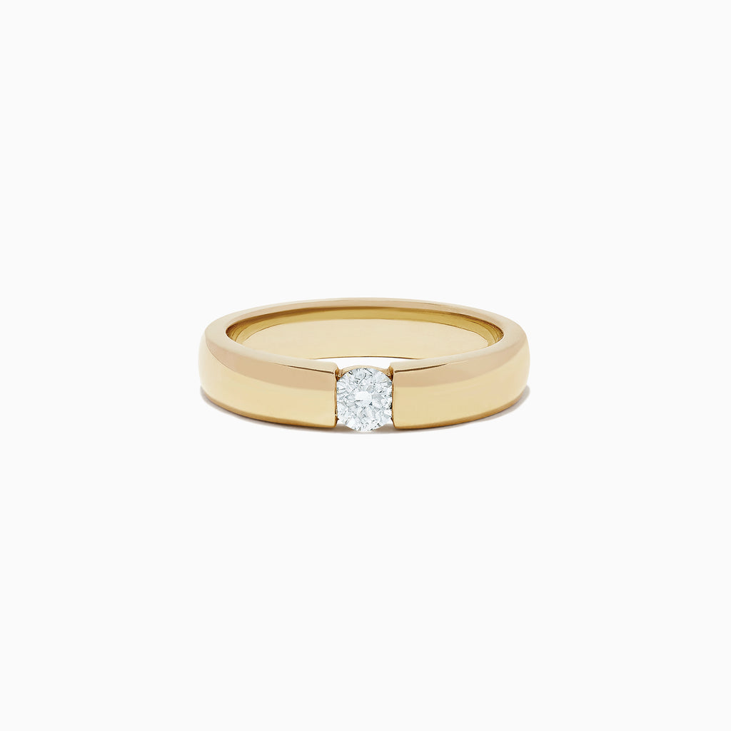 Effy Men's 14K Yellow Gold Diamond Ring, 0.39 TCW