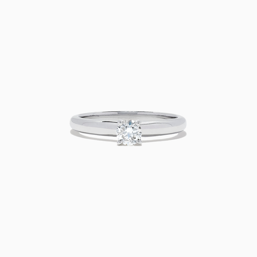 Effy Bridal 14K White Gold Diamond Solitaire Ring, 0.33 TCW