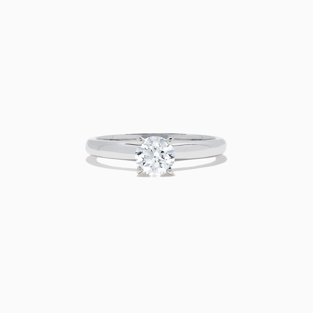 Effy Bridal 14K White Gold Diamond Solitaire Ring, 0.74 TCW