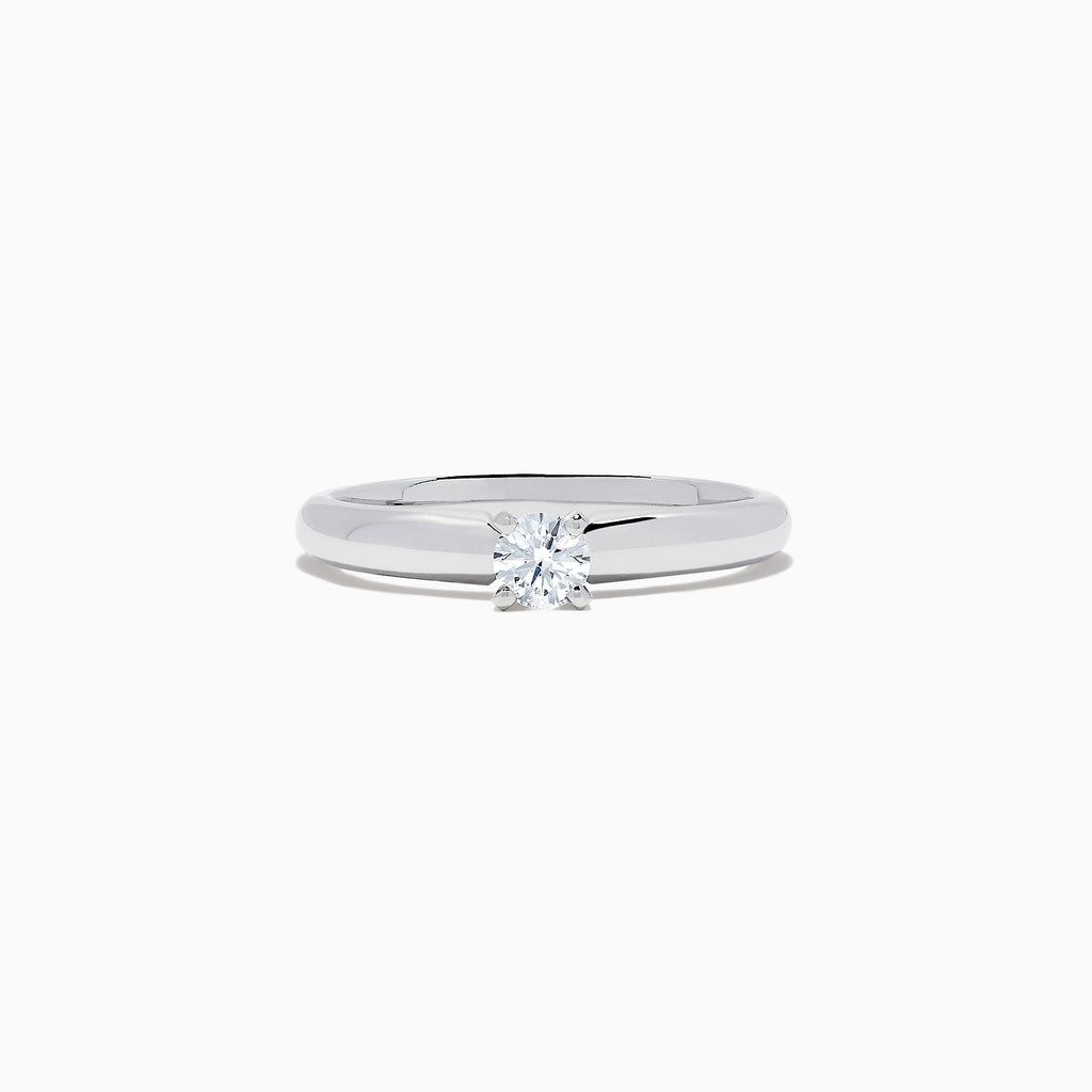 Effy Bridal 14K White Gold Diamond Solitaire Ring, 0.20 TCW
