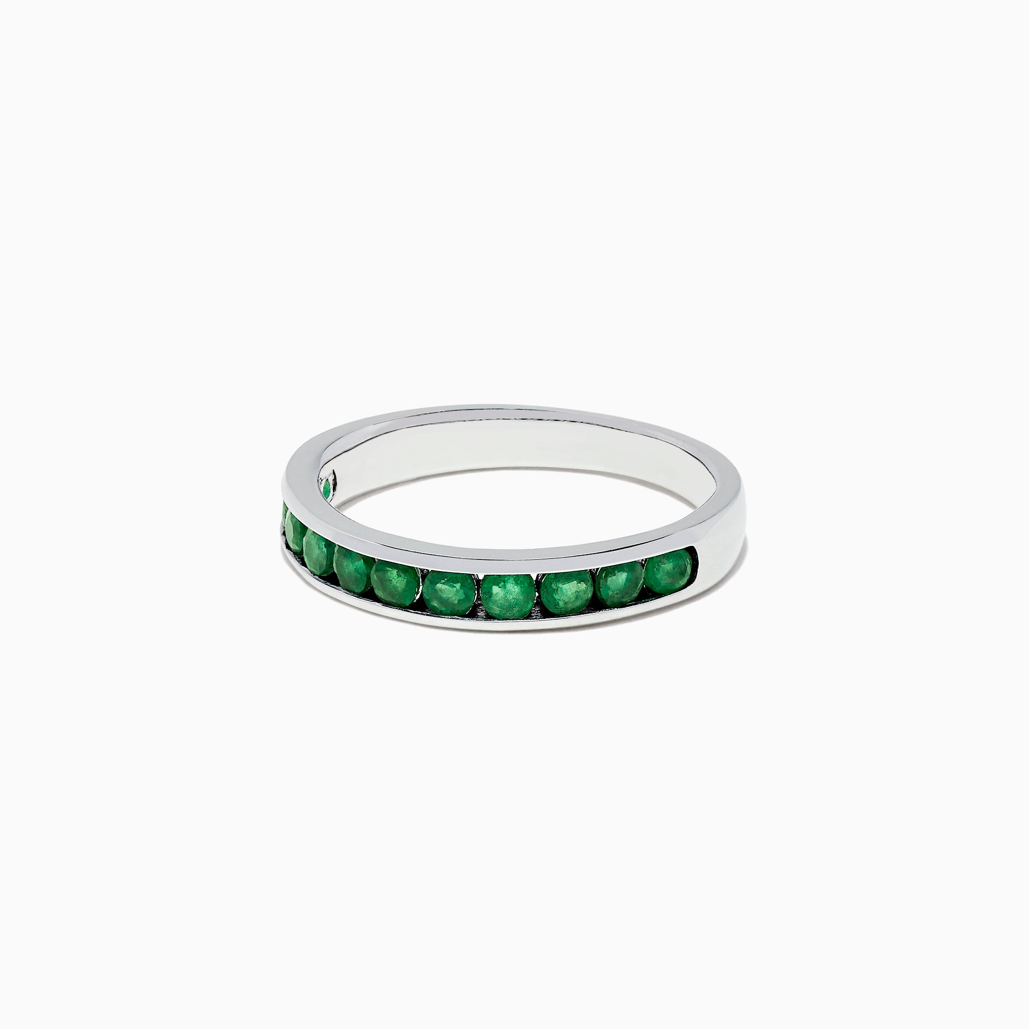 Effy Brasilica 14K White Gold Channel Set Emerald Ring, 0.65 TCW