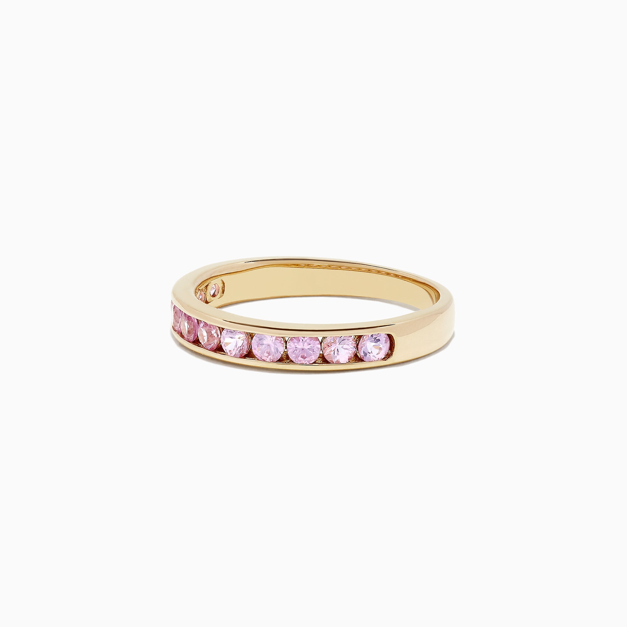 Effy 14K Yellow Gold Channel Set Pink Sapphire Ring, 0.84 TCW
