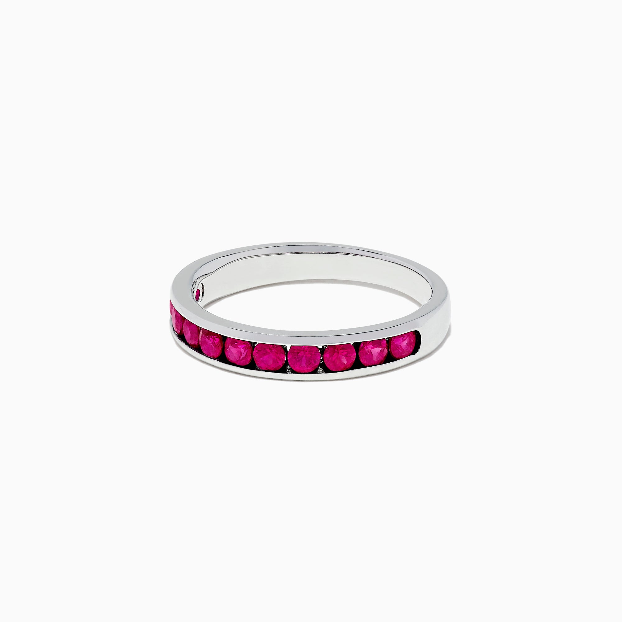 Effy Ruby Royale 14K White Gold Channel Set Ruby Ring, 0.84 TCW
