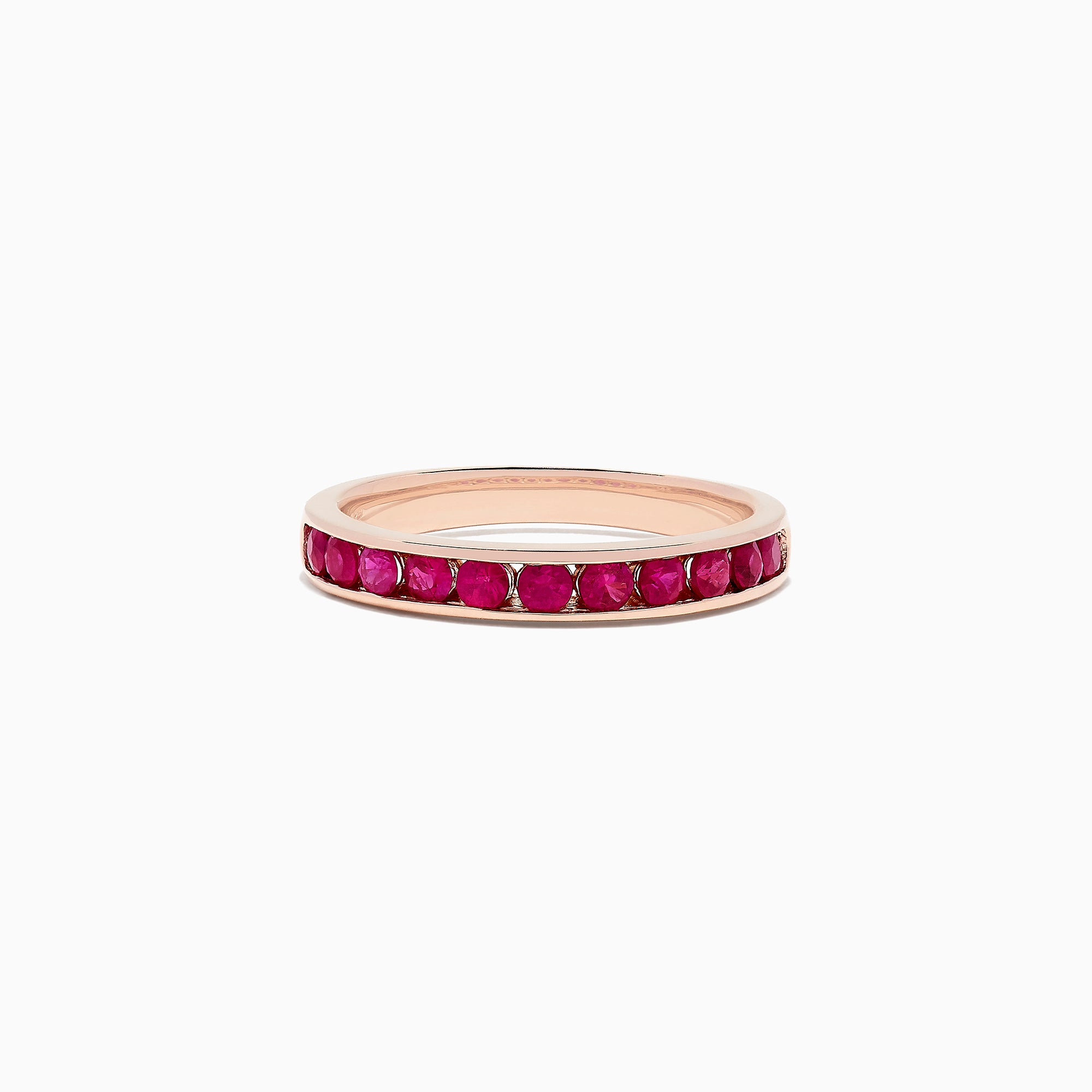 Effy Ruby Royale 14K Rose Gold Ruby Band Ring, 0.84 TCW