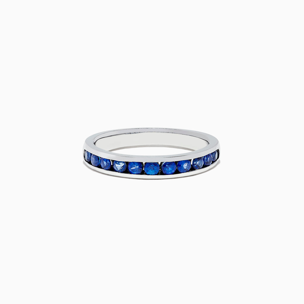 Effy Royale Bleu 14K White Gold Channel Set Sapphire Ring, 0.84 TCW