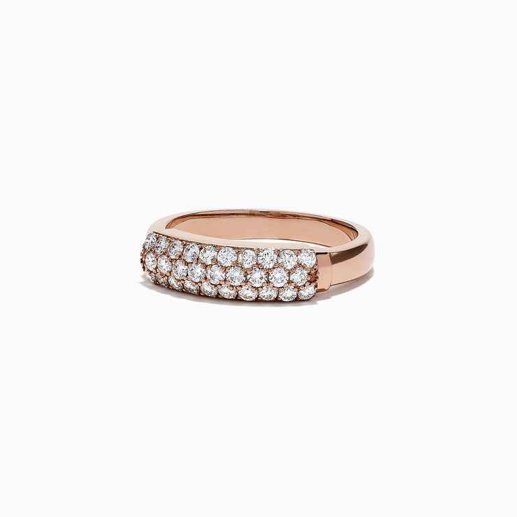 Effy 14K Rose Gold Diamond Ring, 0.57 TCW