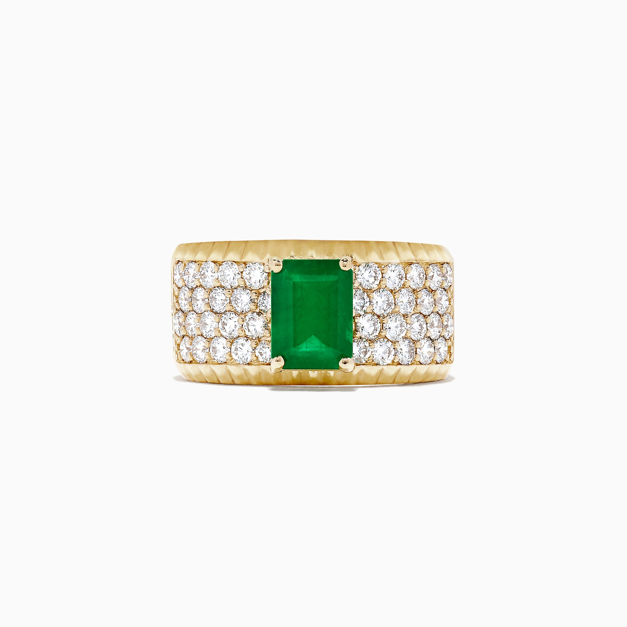 Effy Brasilica 14K Yellow Gold Emerald and Diamond Ring, 2.58 TCW