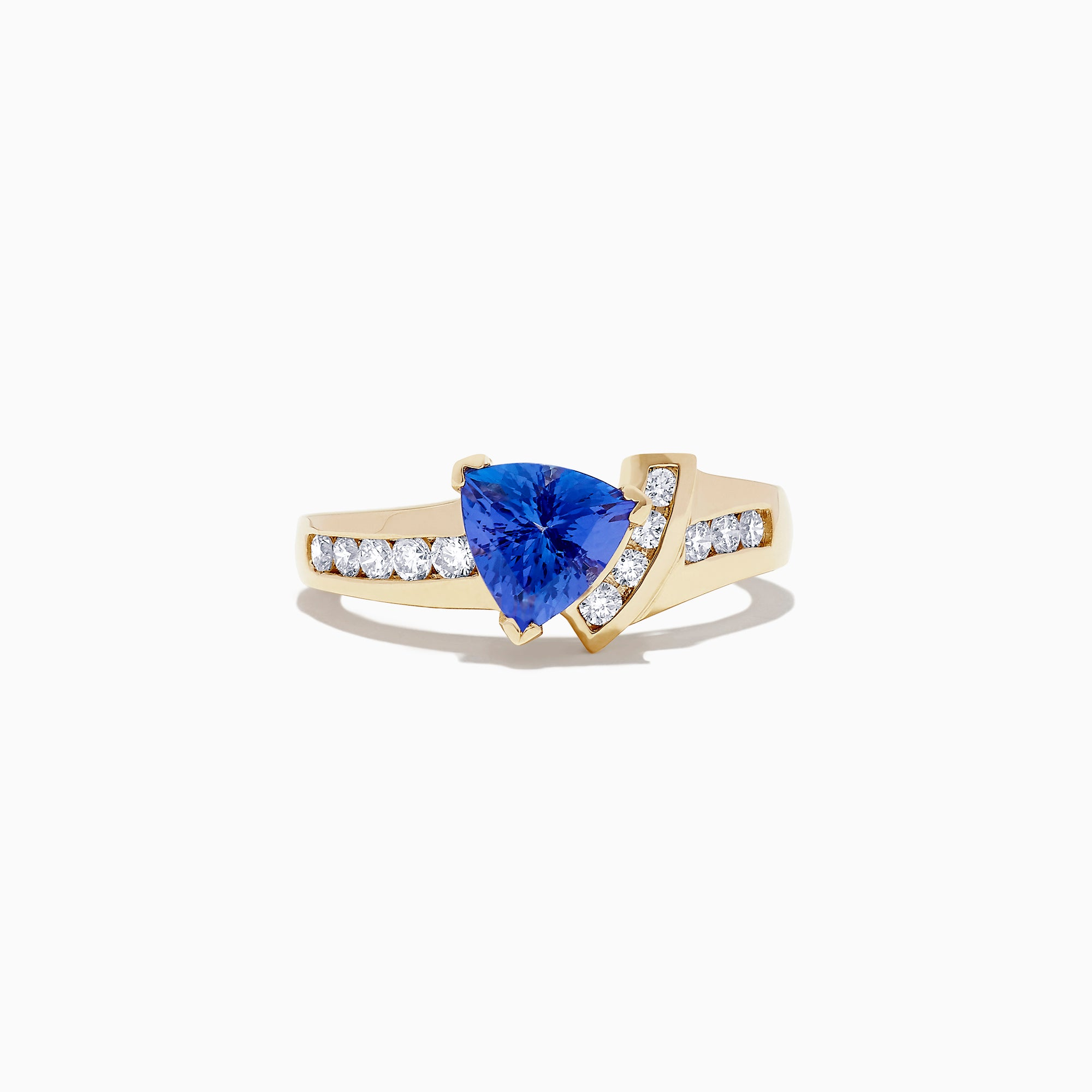 Effy Tanzanite Royale 14K Yellow Gold Tanzanite and Diamond Ring, 1.40 TCW