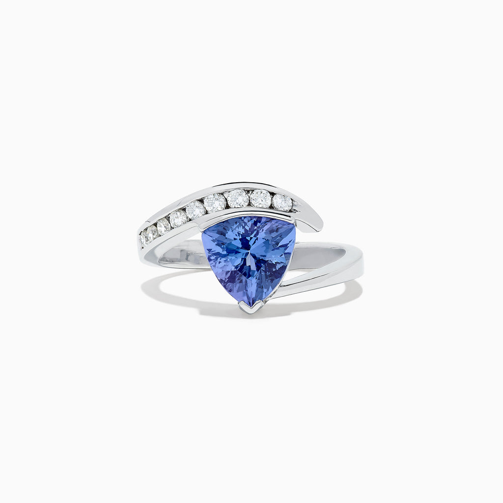 Effy Tanzanite Royale 14K White Gold Tanzanite and Diamond Ring, 1.88 TCW