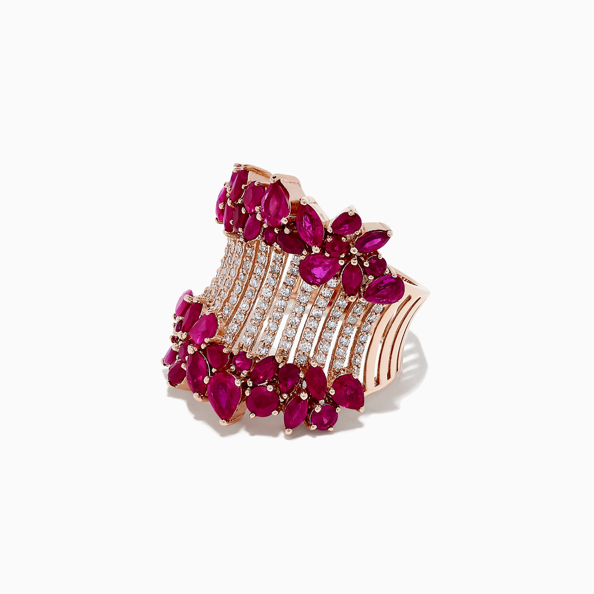 Effy Ruby Royale 14K Rose Gold Ruby and Diamond Ring, 5.09 TCW