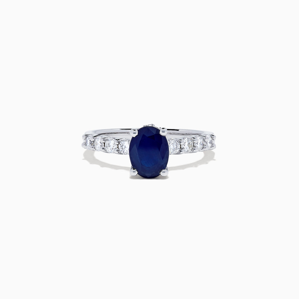 Effy Royale Bleu 14K White Gold Sapphire and Diamond Ring, 1.86 TCW
