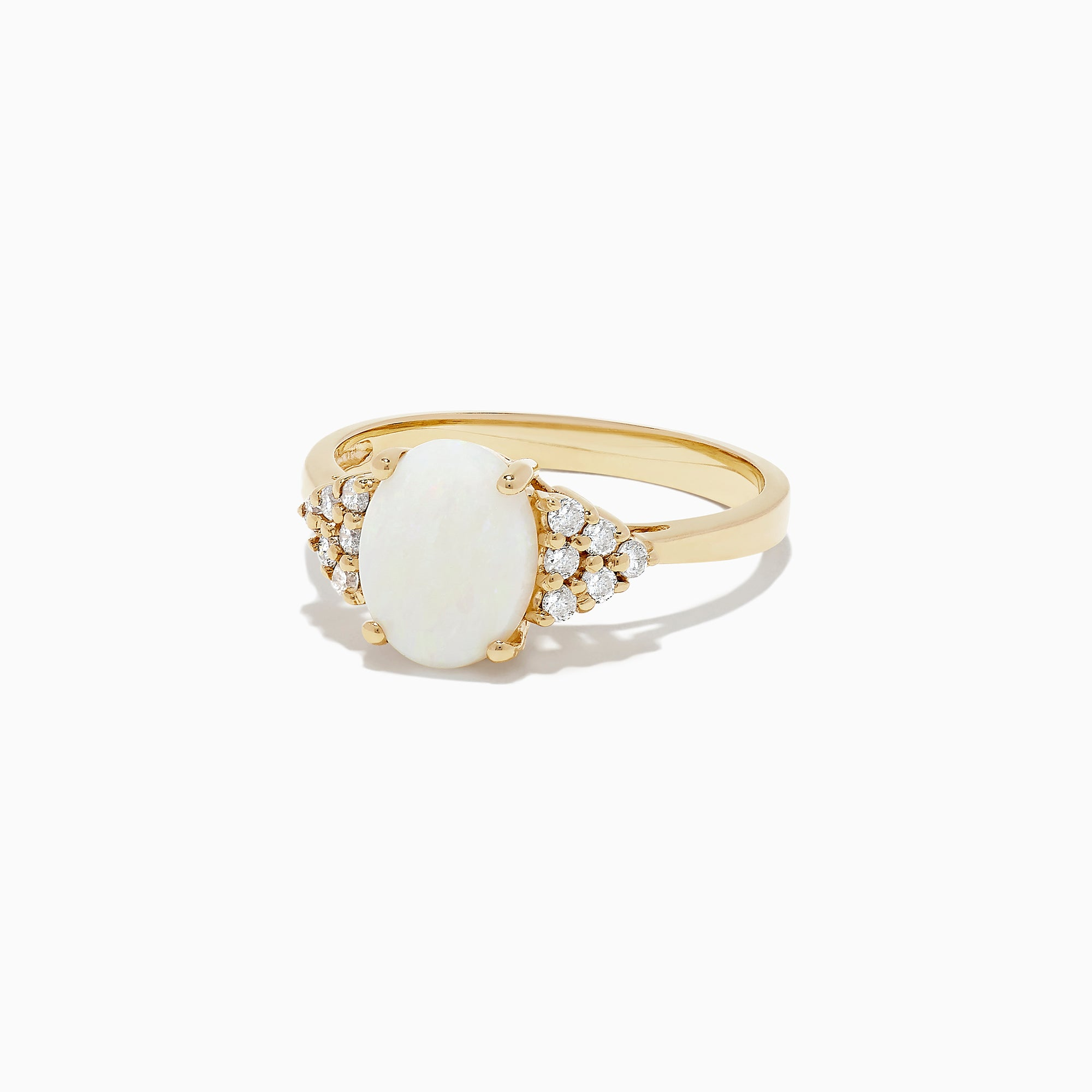 Effy 14K Yellow Gold Opal and Diamond Ring, 1.13 TCW
