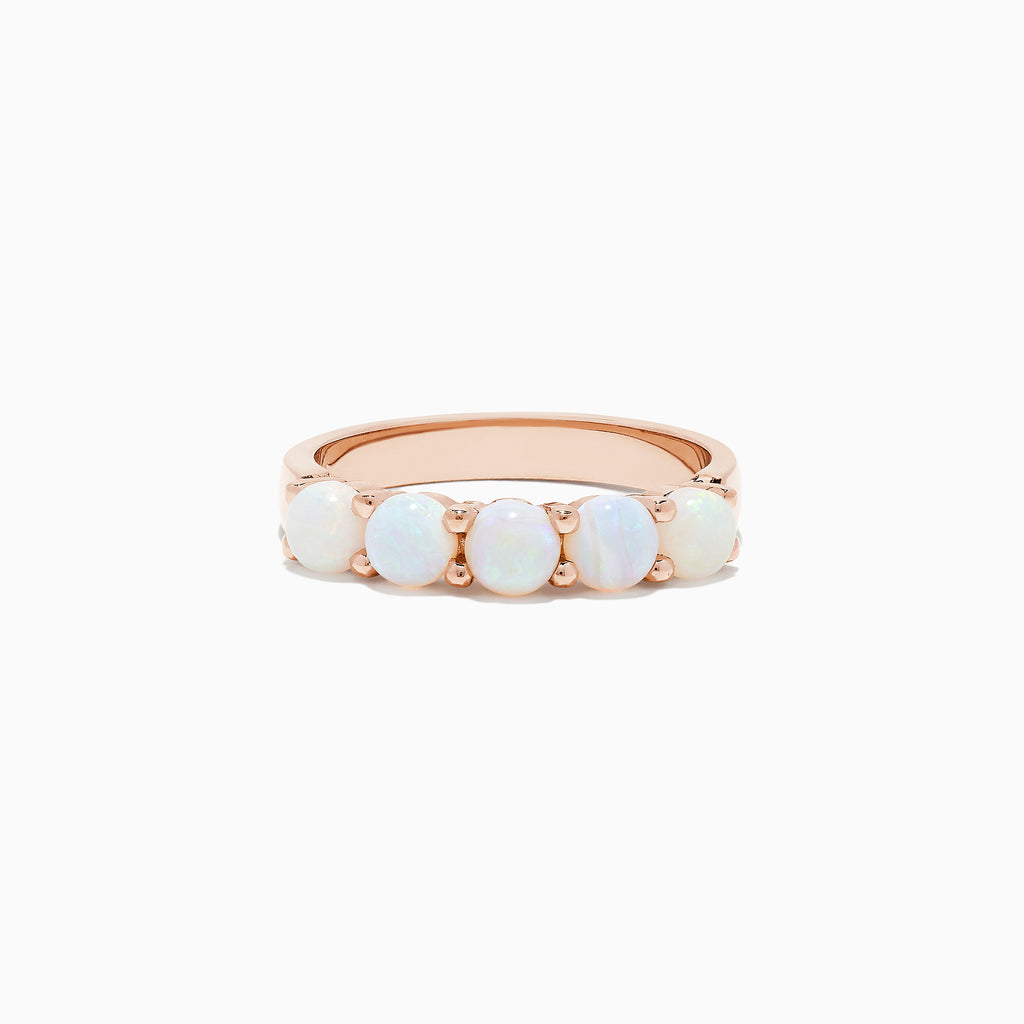 Effy Aurora 14K Rose Gold Opal Band Ring, 1.40 TCW