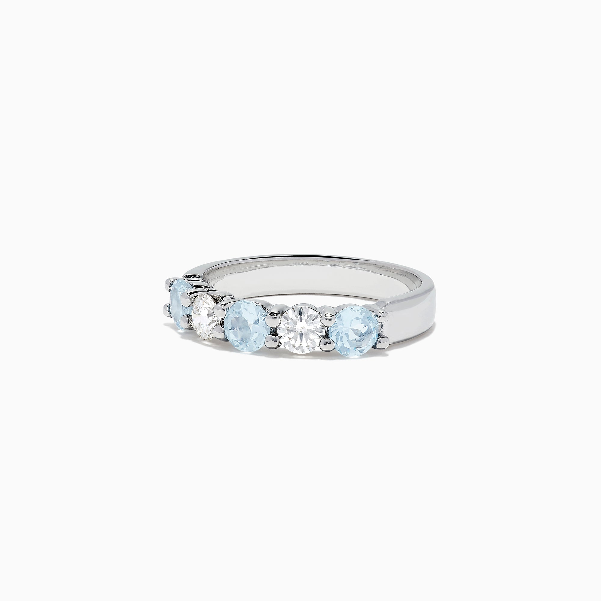 Effy Aquarius 14K White Gold Aquamarine and Diamond Ring, 1.79 TCW