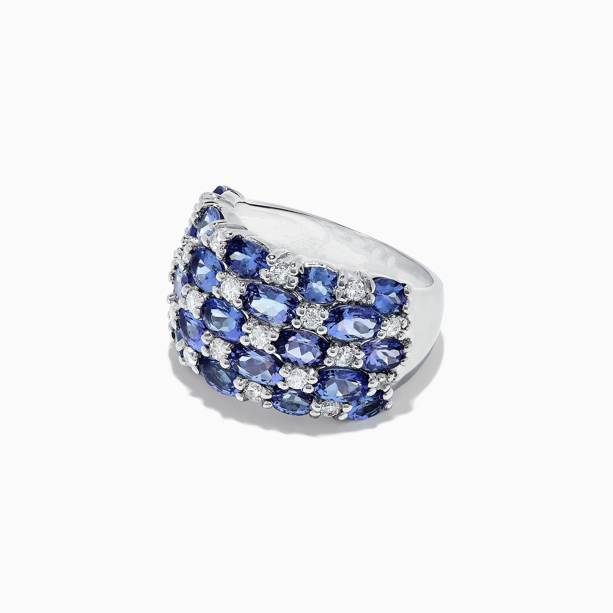 Effy 14K White Gold Tanzanite and Diamond Ring, 5.41 TCW