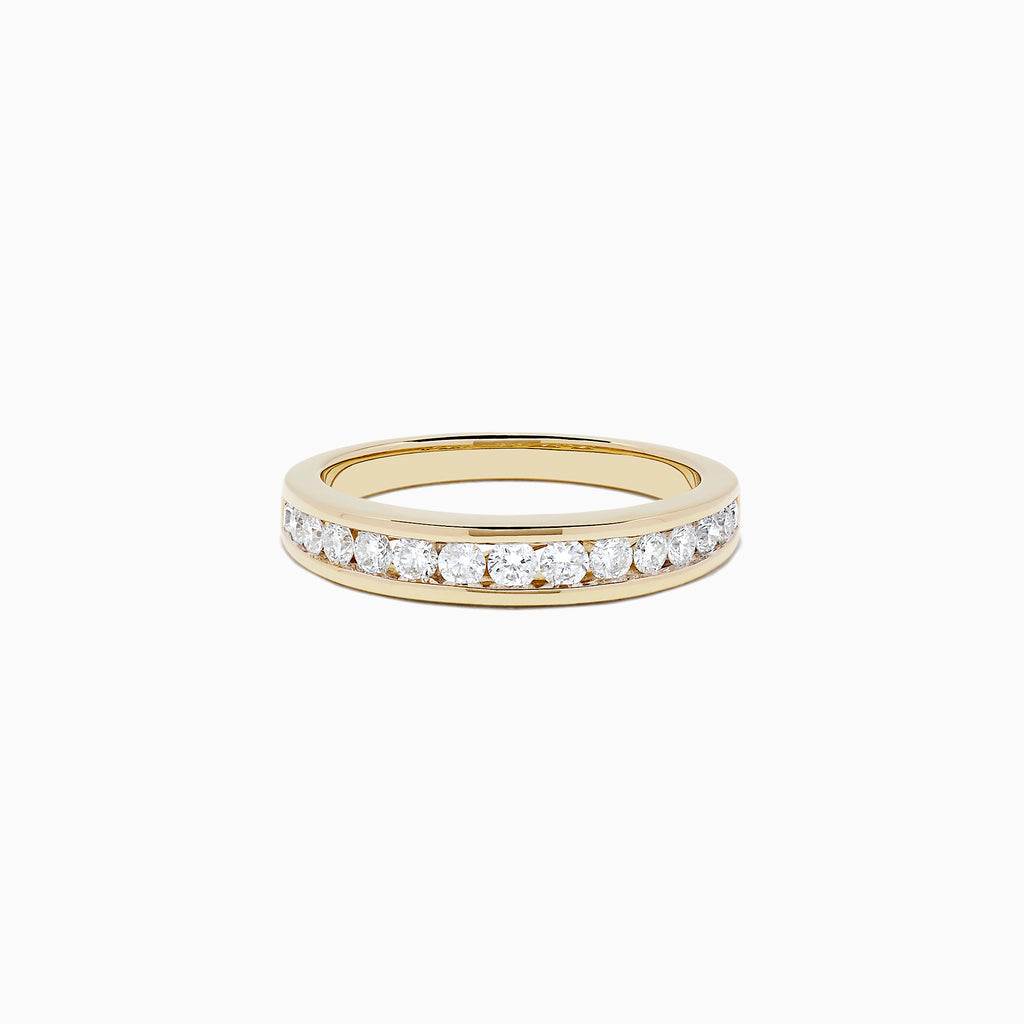 Effy D'Oro 14K Yellow Gold Channel Set Diamond Ring, 0.48 TCW