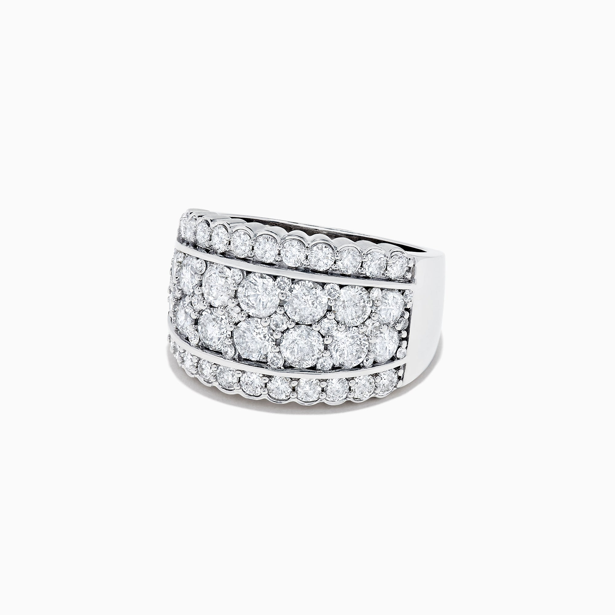 Effy Pave Classica 14K White Gold Diamond Wide Band Ring, 1.54 TCW