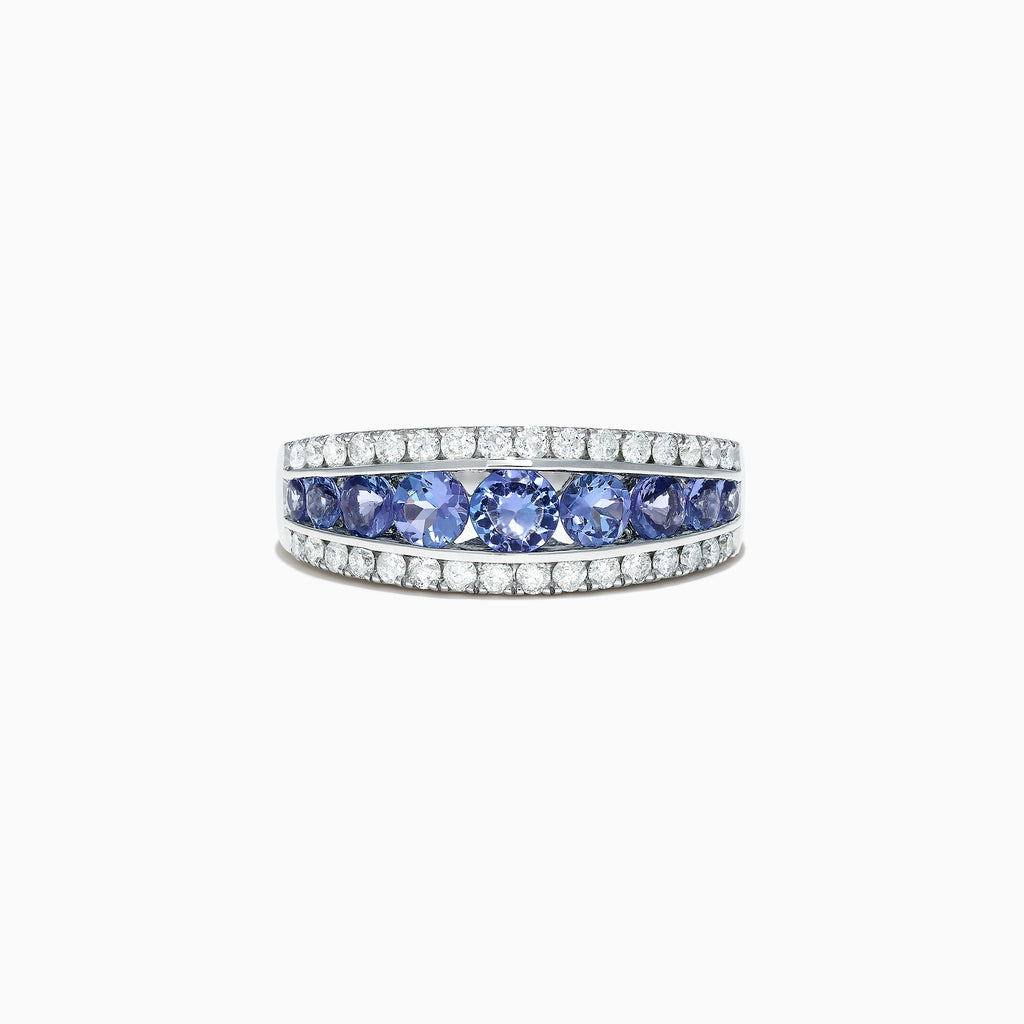 Effy Tanzanite Royale 14K White Gold Tanzanite and Diamond Ring, 1.54 TCW
