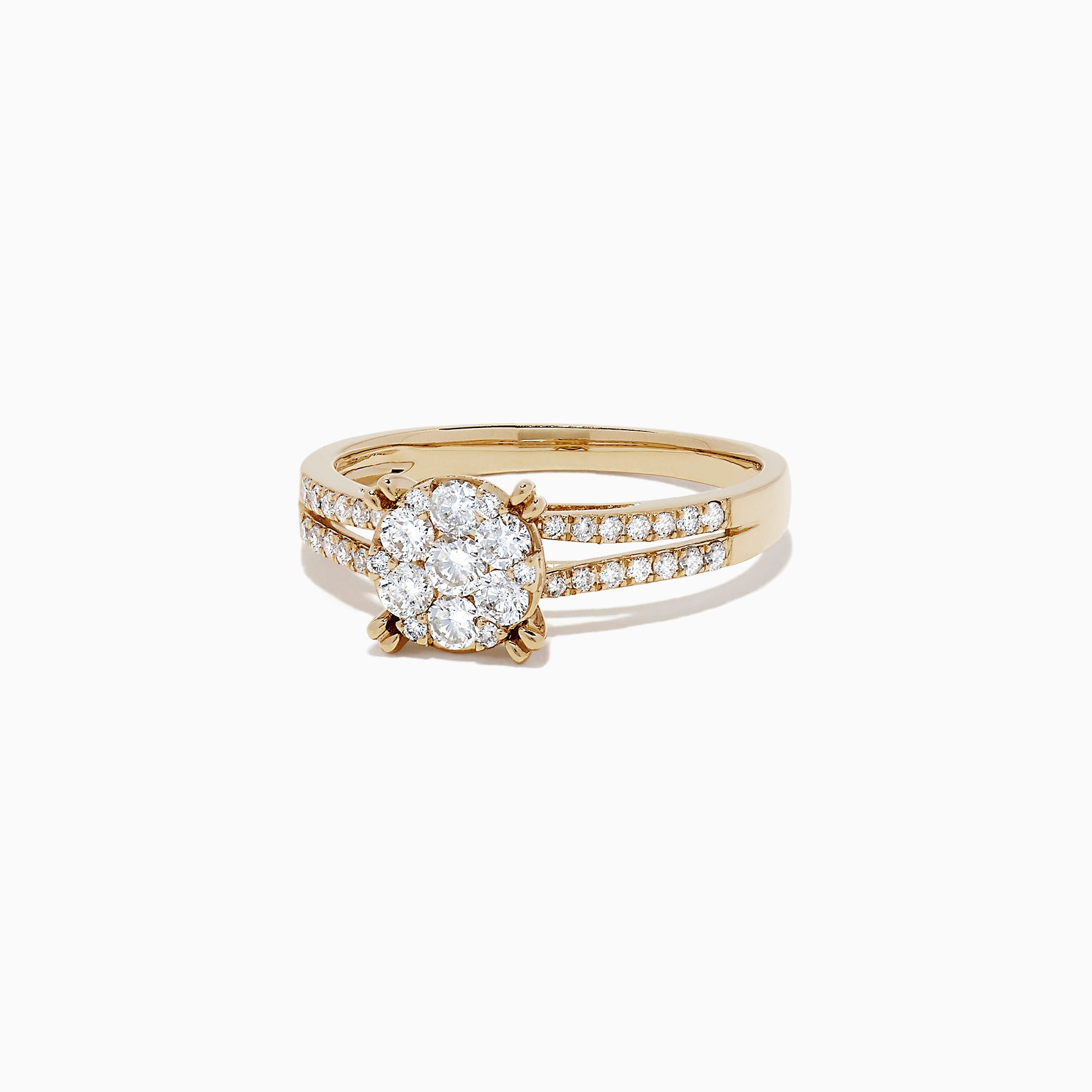 Effy Bouquet 14K Yellow Gold Diamond Cluster Ring, 0.56 TCW