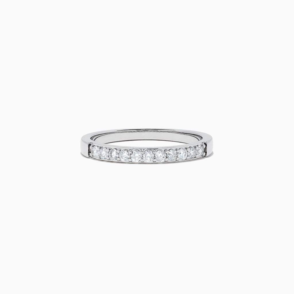 Effy Bridal 14K White Gold Prong Set Diamond Band, 0.24 TCW