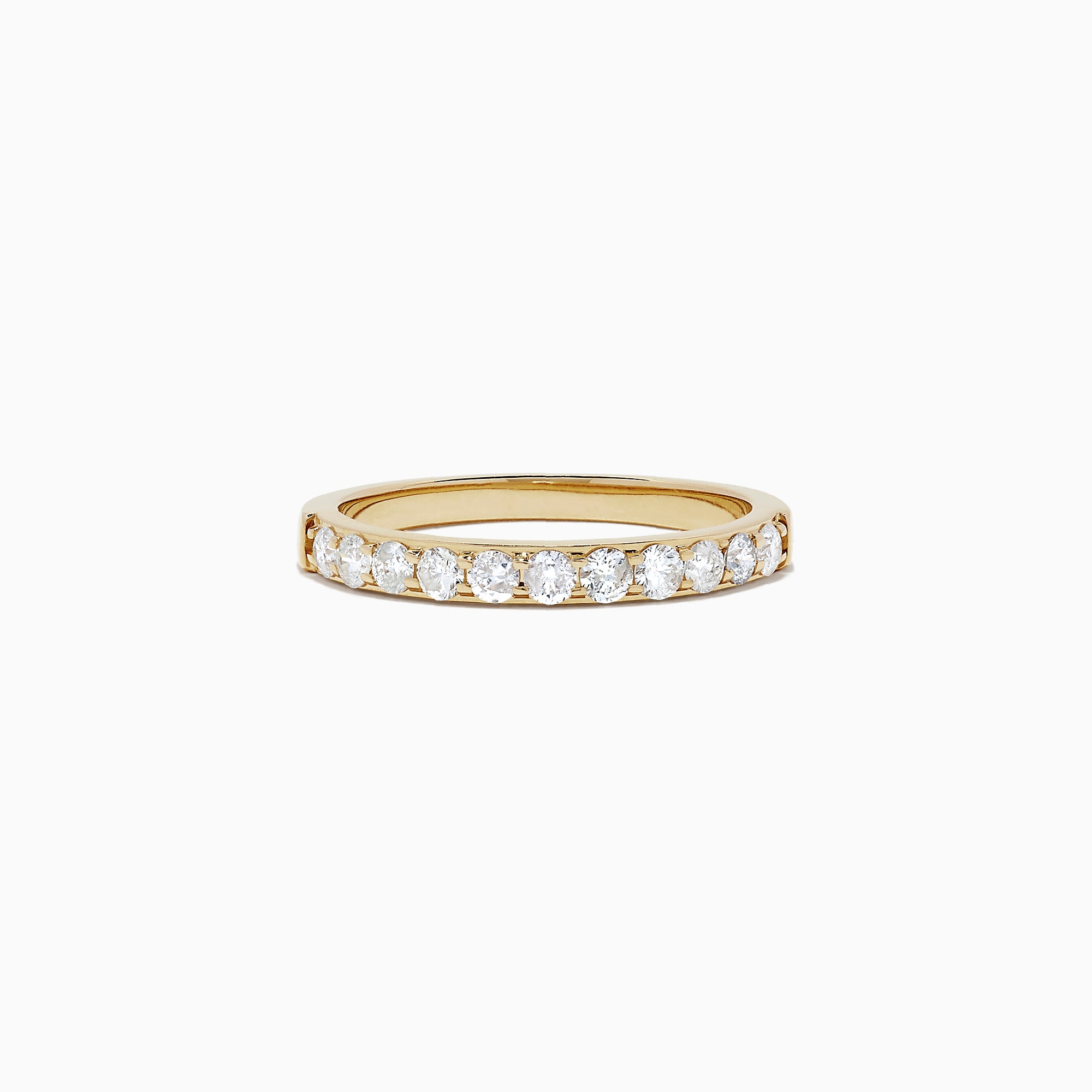 Effy Bridal 14K Yellow Gold Prong Set Diamond Band, 0.49 TCW