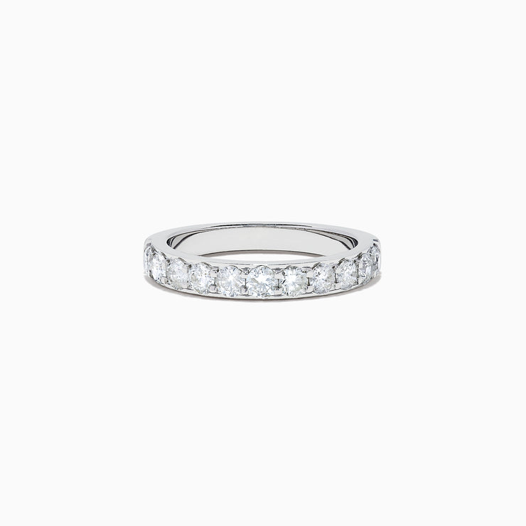 Effy Bridal 14K White Gold Prong Set Diamond Band, 0.98 TCW