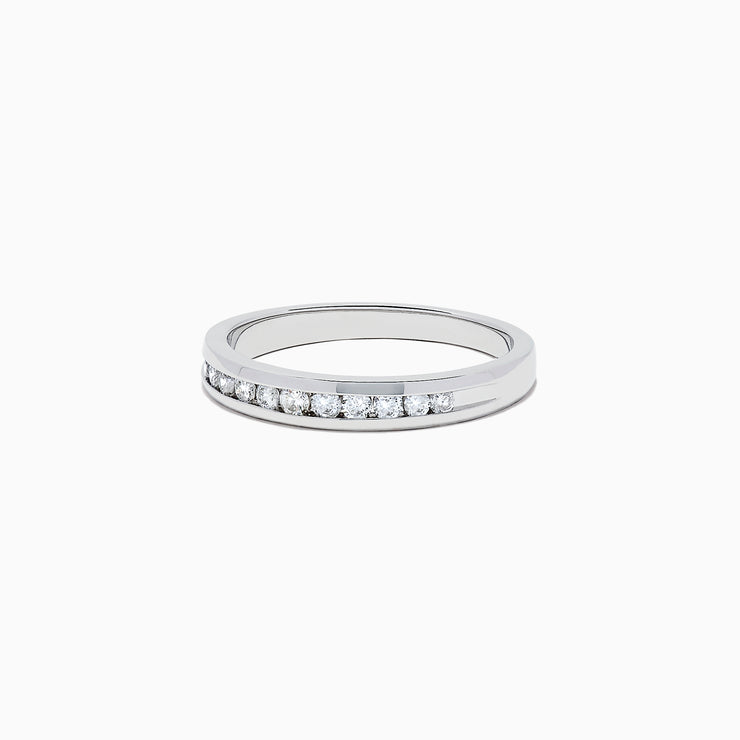 Effy Bridal 14K White Gold Channel Set Diamond Band, 0.24 TCW