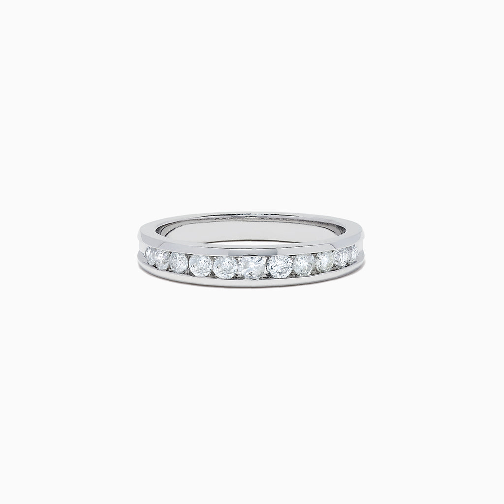 Effy Bridal 14K White Gold Channel Set Diamond Band, 0.49 TCW