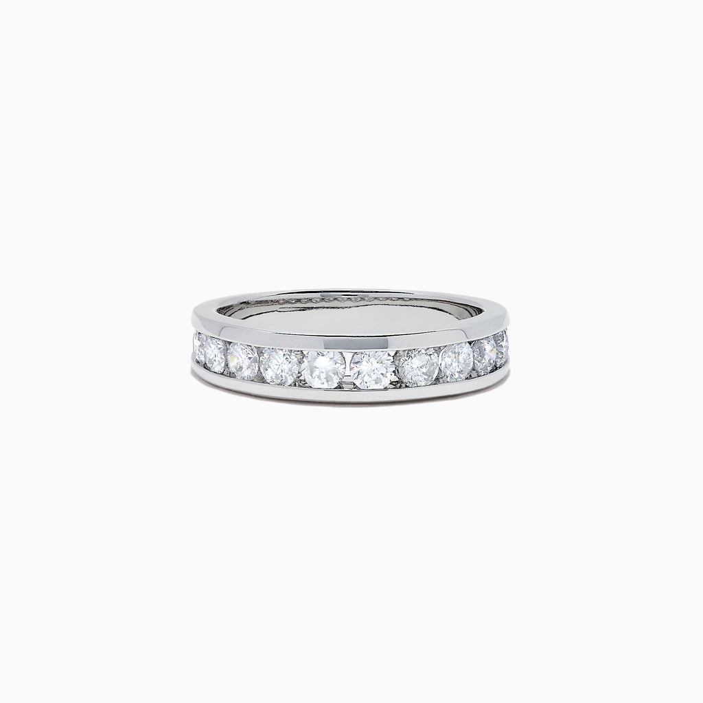 Effy Bridal 14K White Gold Channel Set Diamond Band, 0.98 TCW