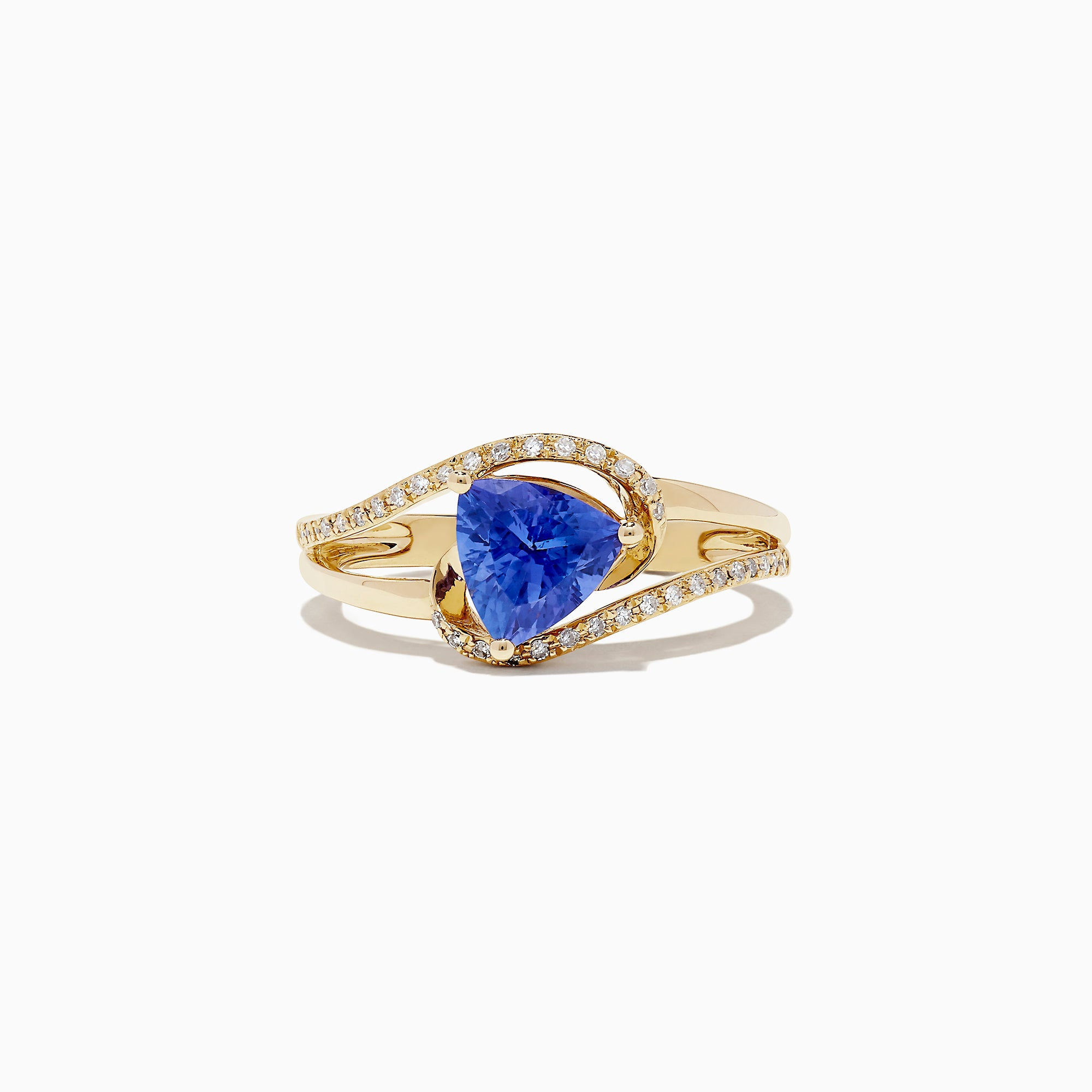 Effy 14K Yellow Gold Tanzanite and Diamond Ring, 1.24 TCW